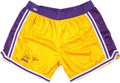 Basketball Collectibles:Others, Kareem Abdul Jabbar Signed Los Angeles Lakers Shorts....