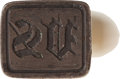 Miscellaneous:Ephemera, Mother of Pearl Handled European Silver Wax Seal Stamp....