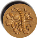 Miscellaneous:Ephemera, Ebony Handled Brass Wax Seal Stamp....