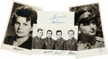 Miscellaneous:Ephemera, [Russian Cosmonauts]. Group of Four Items Signed....