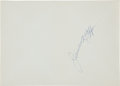 Autographs:Celebrities, Jimmy Hoffa Card Signed...