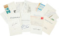 Miscellaneous:Ephemera, [Military Leaders]. Group of Eighteen Signatures....