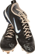 Baseball Collectibles:Others, 2011 Evan Longoria Game Worn, Dual Signed Cleats....
