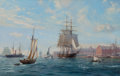 Maritime:Paintings, ROY CROSS (British, b. 1924). Sovereign of the Seas Arriving OffBoston Quays, 1992. Oil on canvas. 32 x 50 inches (81.3...