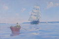 Maritime:Paintings, FRANK W. HANDLEN (American, b. 1916). A Summer Calm. Oil onboard. 40-1/4 x 60-1/4 inches (102.2 x 153.0 cm). Signed low...