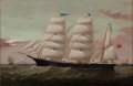 Maritime:Paintings, WILLIAM HOWARD YORKE (British American, 1847-1921). Bark'Palestine', 1883. Oil on canvas. 20 x 30 inches (50.8 x 76.2c...