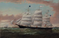 Maritime:Paintings, WILLIAM HOWARD YORKE (British American, 1847-1921). Clipper Ship'Storm King'. Oil on canvas. 24 x 36 inches (61.0 x 91....