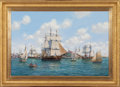 Maritime:Paintings, ROY CROSS (British, b. 1924). Salem Harbor, 1806 Friendship,2000. Oil on canvas. 24 x 36 inches (61.0 x 91.4 cm). Signe...