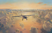ROY CROSS (British, b. 1924) The Lone Eagle, Charles Lindbergh, 1994 Oil on canvas 30 x 40 inches