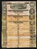 Confederate Notes:1864 Issues, T68 $10 1864 Fourteen Examples.. ... (Total: 14 notes)