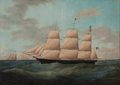 Maritime:Paintings, JAMES EDWARD BUTTERSWORTH (American, 1817-1894). UnitedStates. Oil on canvas. 30 x 42 inches (76.2 x 106.7 cm). THEM...