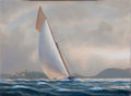 Maritime:Paintings, TIMOTHY H. THOMPSON (American, b. 1951). On a Nor'wester.Oil on canvas. 12 x 16 inches (30.5 x 40.6 cm). Signed lower r...