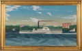 Maritime:Paintings, After JAMES BARD (American, 1815-1897). Sidewheeler 'JosephBelknap'. Oil on canvas. 29-1/2 x 51-1/2 inches (74.9 x 130....