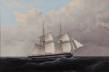 Maritime:Paintings, THOMAS BIRCH (American, 1779-1851). Brig. Oil on canvas. 18x 27 inches (45.7 x 68.6 cm). THE MBNA COLLECTION OF MARIT...