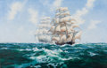Paintings, BARRY MASON (British, b. 1947). Blowing Along in the Trade Winds. Oil on canvas. 42 x 62 inches (106.7 x 157.5 cm). Sign...