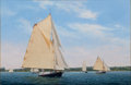 Maritime:Paintings, DIMETRIOUS ATHAS (American, 20/21st century). Friendship RegattaOff Thomaston. Oil on panel. 20 x 30 inches (50.8 x 76....