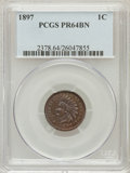 Proof Indian Cents: , 1897 1C PR64 Brown PCGS. PCGS Population (32/31). NGC Census:(40/68). Mintage: 1,938. Numismedia Wsl. Price for problem fr...