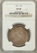 Bust Half Dollars: , 1829 50C Small Letters AU58 NGC. NGC Census: (224/270). PCGSPopulation (179/229). Mintage: 3,712,156. Numismedia Wsl. Pric...