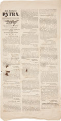 Miscellaneous:Newspaper, [Civil War]. Daily Intelligencer Extra Covering theSurrender of Robert E. Lee....