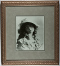 Autographs:Celebrities, Lillian Gish (1893-1993, American Actor). Signed Photograph,Beautifully Framed. Photograph measures 8 x 10 inches. Accompan...