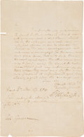 Autographs:U.S. Presidents, [Revolutionary War]. George Washington Letter Twice Signed...