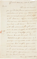 Autographs:Military Figures, [Revolutionary War]. Nathanael Greene Autograph Letter ofIntroduction Signed...