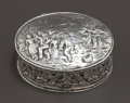 Silver Smalls:Snuff Boxes, A GERMAN SILVER AND SILVER GILT SNUFF BOX . Maker unknown, Germany,circa 1900. Marks: (crescent), 800, (effaced) . 1-7/...