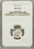 Mercury Dimes: , 1937-D 10C MS67 Full Bands NGC. NGC Census: (132/15). PCGSPopulation (207/12). Mintage: 14,146,000. Numismedia Wsl. Price ...