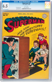 Superman #39 (DC, 1946) CGC FN+ 6.5 White pages