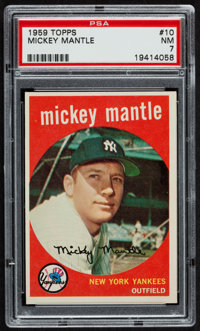 1959 Topps Mickey Mantle #10 PSA NM 7