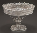 Silver Holloware, Continental:Holloware, A RUSSIAN SILVER FILIGREE TAZZA . Maker unknown, circa 1850. Marks:(crown over 84). 6-3/8 inches high x 8-1/8 inches diamet...