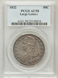 Bust Half Dollars: , 1832 50C Large Letters AU58 PCGS. PCGS Population (28/17). NGCCensus: (0/0). (#6161)...