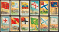"Non-Sport Cards:Lots, 1909-11 T59 ""Flags of All Nations"" Collection (146). ..."