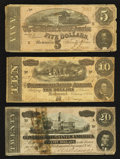 Confederate Notes:1864 Issues, 1864 Notes.. ... (Total: 3 notes)