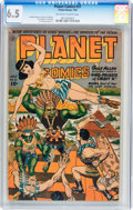 Golden Age (1938-1955):Science Fiction, Planet Comics #31 (Fiction House, 1944) CGC FN+ 6.5 Off-white towhite pages....