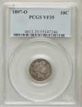 Barber Dimes: , 1897-O 10C VF35 PCGS. PCGS Population (11/105). NGC Census: (3/64). Mintage: 666,000. Numismedia Wsl. Price for problem fre...