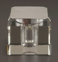 Silver Holloware, British:Holloware, A GEORGE V SILVER AND CUT GLASS INKWELL . Maker unknown,Birmingham, England, circa 1932-1933. Marks: (lion passant),(ancho...