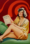 Pulp, Pulp-like, Digests, and Paperback Art, EARLE BERGEY (American, 1901-1952). Romance Preferred, BedtimeStories pulp cover, April 1935. Oil on canvas. 30 x 21 in...