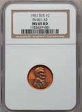 Lincoln Cents, 1951-D/S 1C MS65 Red NGC. FS-021.52. NGC Census: (727/2398). PCGSPopulation (301/1078). Mintage: 625,355,008. Numismedia W...