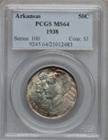 Commemorative Silver: , 1938 50C Arkansas MS64 PCGS. PCGS Population (297/284). NGC Census:(217/194). Mintage: 3,156. Numismedia Wsl. Price for pr...