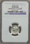 Mercury Dimes: , 1926-S 10C -- Improperly Cleaned -- NGC Details. XF. NGC Census:(25/171). PCGS Population (53/250). Mintage: 1,520,000. Nu...