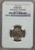 Buffalo Nickels: , 1925-S 5C -- Improperly Cleaned -- NGC Details. XF. NGC Census:(36/551). PCGS Population (43/744). Mintage: 6,256,000. Num...