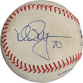 Baseball Collectibles:Balls, Sept. 27, 1998 Mark McGwire Game Used, Signed Baseball Attributed to 70th Home Run Game - Also Signed by Pavano....