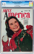 Golden Age (1938-1955):Miscellaneous, Miss America Magazine V1#5 Mile High pedigree (Miss America Publishing, 1945) CGC NM- 9.2 Off-white to white pages....