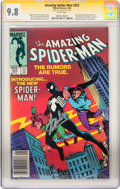 Modern Age (1980-Present):Superhero, The Amazing Spider-Man #252 Signed by Stan Lee (Marvel, 1984) CGCSignature Series NM/MT 9.8 White pages....