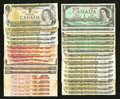 Canadian Currency: , Canadian Cornucopia of Currency Plus One.. ... (Total: 71 notes)
