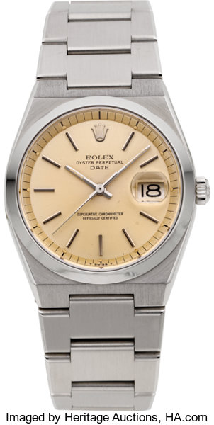 2568218d372 ... Timepieces:Wristwatch, Rolex Rare Ref. 1530 Oyster Perpetual Date  Automatic Wristwatch,circa ...
