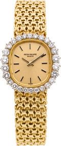 Timepieces:Wristwatch, Patek Philippe Ref. 4137/1 Lady's Diamond Bracelet Watch, circa1980's. ...