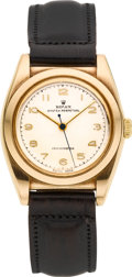 Timepieces:Wristwatch, Rolex Ref. 3131 Gold Bubbleback, circa 1930's. ...