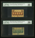 Fractional Currency:First Issue, Fr. 1279 25¢ First Issue PMG Choice Very Fine 35;. Fr. 1310 50¢ First Issue PMG About Uncirculated 50 Net.. ... (Total: 2 notes)